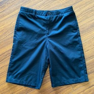 Under Armour Black Golf Shorts - Youth 16